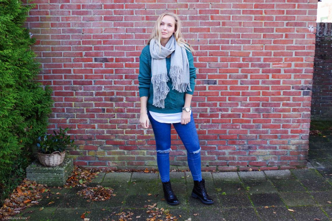 Outfit, style, 1310bynora, boots, colors, knit