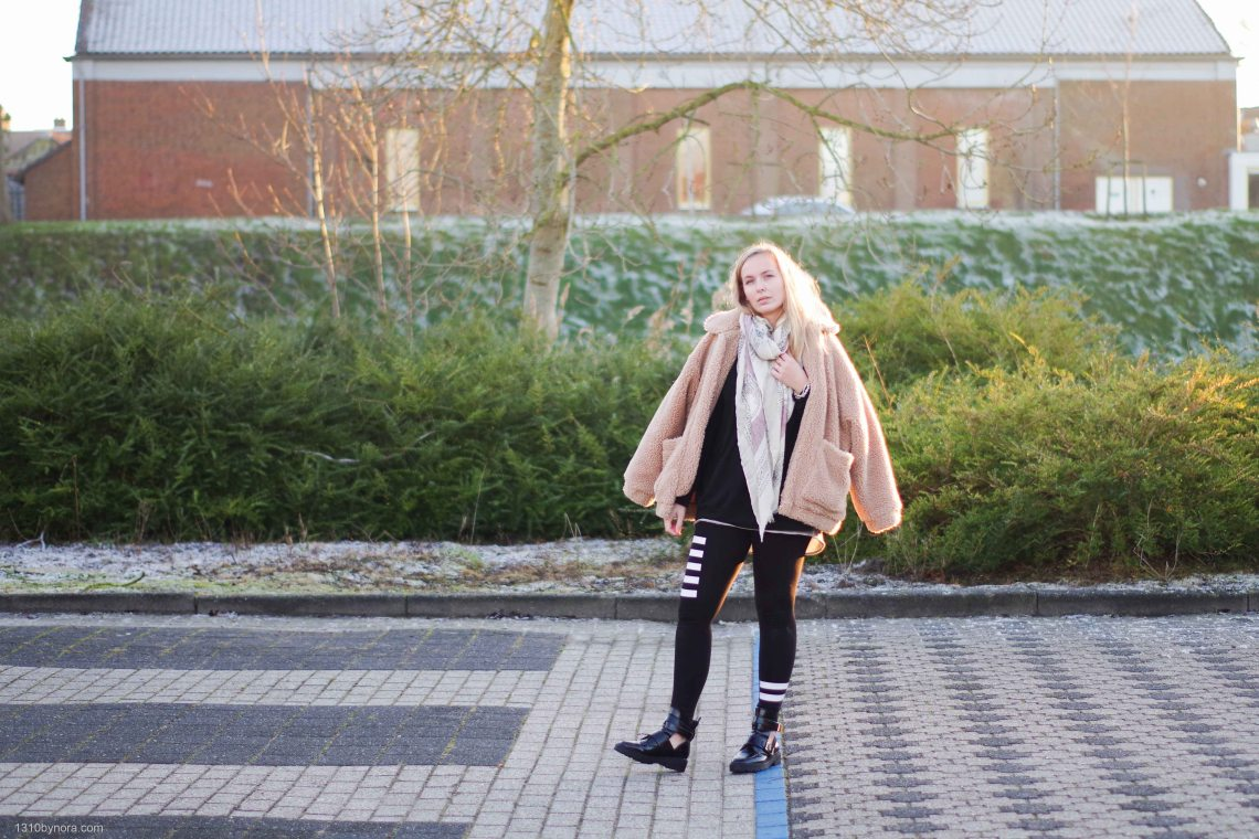 Style, Outfit, cut out boots, H&M teddy coat, River island, 1310bynora, fashion
