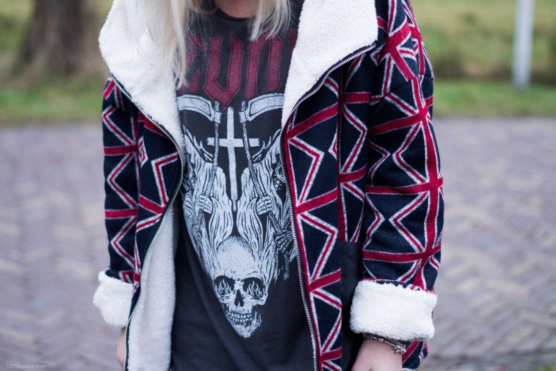 details, revolt shirt, oversized coat, white, black