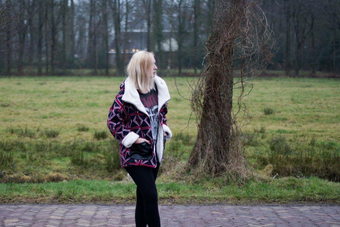 Personal style, 1310bynora, black, oversized coat,
