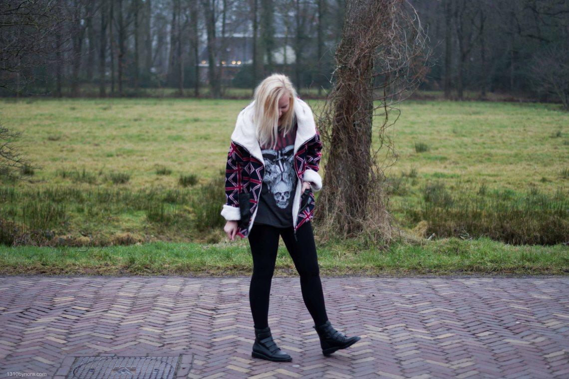 style, black boots, band shirt, blond, 1310bynora