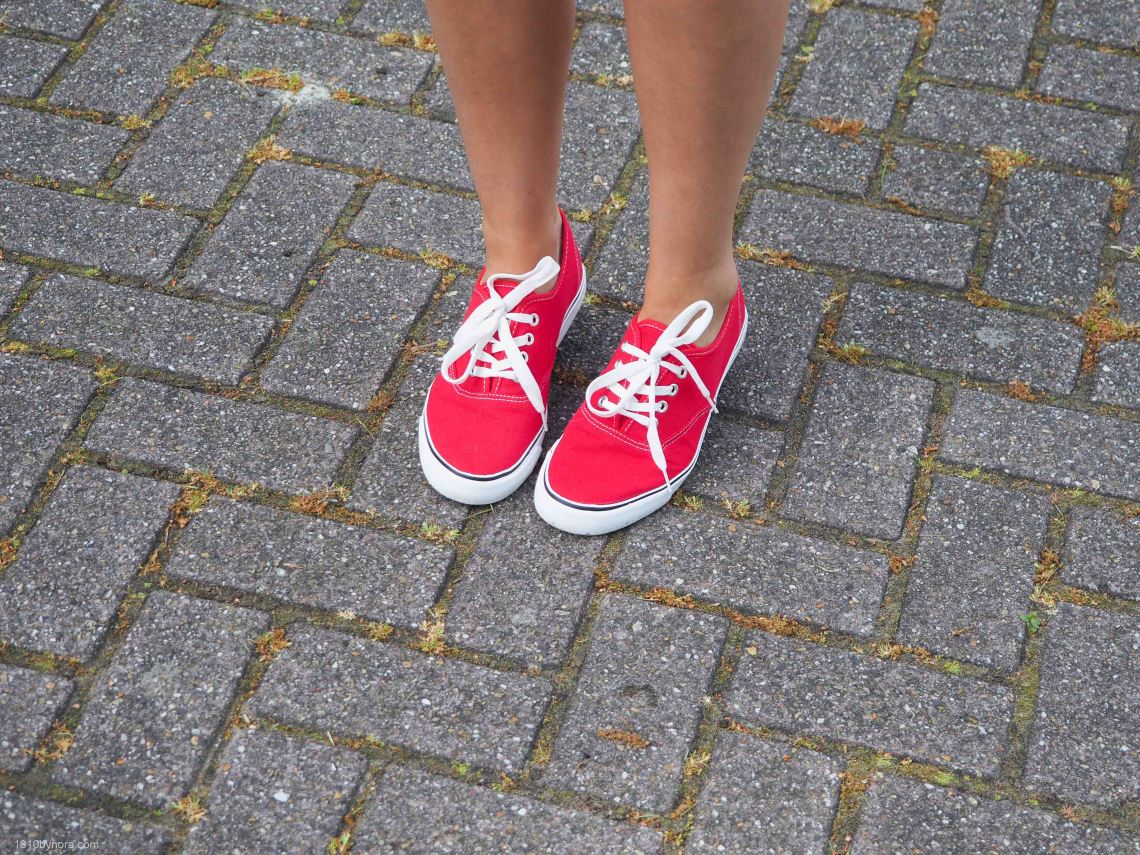 Rode bristol sneakers, Style, blogger, 1310bynora
