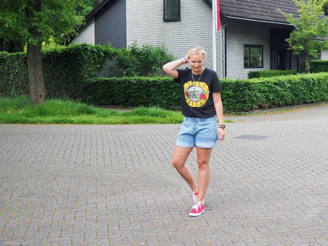 Style blogger, 1310bynora, outfit, style, Denim shorts,