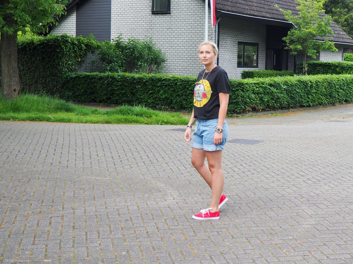 Spring style, look, red sneakers, 1310bynora