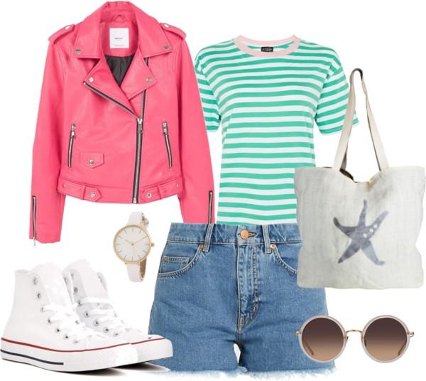 Outfit, inspiration, denim shorts, summer