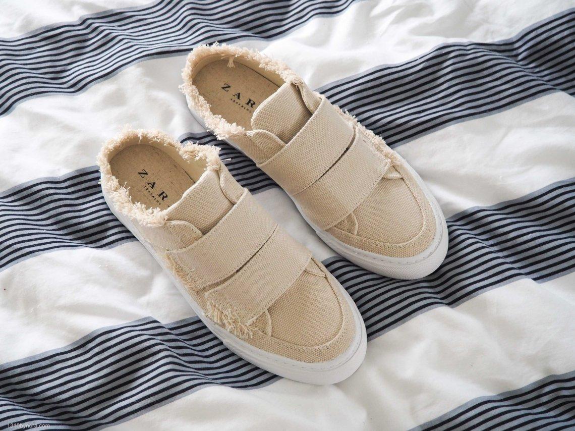 Zara shoplog - dress- shirts- sneakers